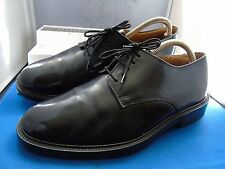 M & S CLASSIC BLACK LEATHER PLAIN DERBY WORK SHOES UK 8 EU 42 US 9