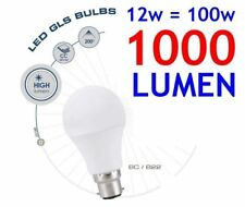 Extra Bright 12w High Lumen LED Bayonet Cap Lamp Light Bulb Cool Day White BC