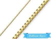 Real 14k Yellow Gold Necklace Gold Box 14kt Chain 14 16 18 20  24 Genuine Gold