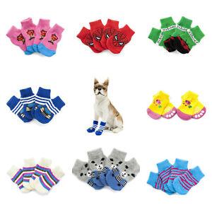 Dog Socks Anti Slip Grip Puppy Slippers Small Medium Large XLarge Pink Blue Red
