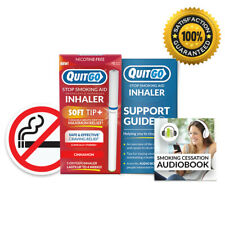 QuitGo Cinnamon Flavored Smoking Cessation Inhaler with Soft Tip