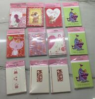 New 12 Pkgs of 8 Valentine's Day Cards & envelopes