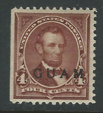 Guam #4, 4 cent Lincoln with overprint
