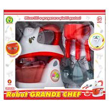 Giocattolo Robot Da Cucina per bambina impastatrice luci suoni spatola accessori
