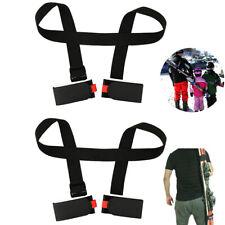 2er Set Ski Tragegurt Strap Skizubehör Snowboard Trage-Schlaufen Schultergurt