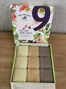 Pre de Provence French Luxury Guest Soap Box of 9 Discontinued Shea Butter Enric