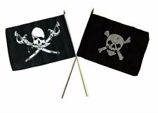 "12x18 12""x18"" Wholesale Combo Pirate Brethren Coast & Crossbones Stick Flag"