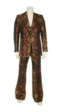 Bill Whitten Custom Made 1970's Gold/Black/Red Sparkly Stage 2-Pc Suit 38/40