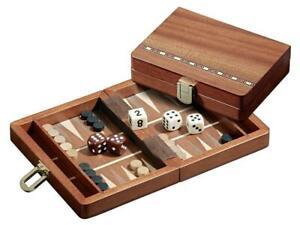 22X15cm Egina Reise Backgammonspiel Board Backgammon Kasette Intarsien Tavli NEU