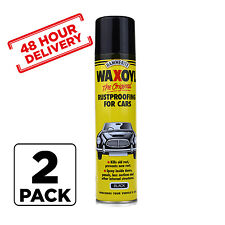 2 x Hammerite Waxoyl Wax Oil Rust proofing Aerosol BLACK 400ml 48 hour Delivery