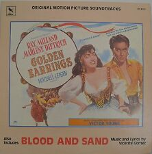"""OST - SOUNDTRACK - VICTOR YOUNG - GOLDEN EARRINGS / BLOOD AND SAND 12"""" LP (L660)"""