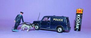 * 1964-1969 * CORGI TOYS * NO 448 * BMC POLICE MINI-VAN WITH DOG AND HANDLER *