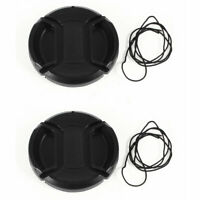 2 x DSLR Camera Front Lens Protective Cap Cover 52mm Black for Video Camcorders
