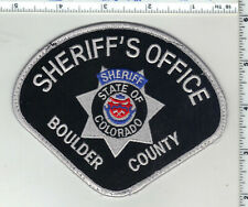 Boulder County Sheriff (Colorado) 3rd Issue Uniform Take-Off Shoulder Patch
