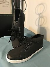 NAUTICA Women's LUBEC Mid-Fashion High Top SNEAKER - Size 8 - Black - LW0021