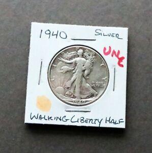 ** UNCIRCULATED 1940 - P  Walking Liberty Half Dollar ** SILVER COIN **