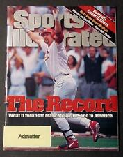 MARK McGWIRE SPORTS ILLUSTRATED EX+! SEPTEMBER 19 THE HOMERUN RECORD CARDNIALS