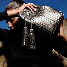 New Authentic TOM FORD Genuine PYTHON Tassel Bucket Bag Shoulder Crossbody Bag