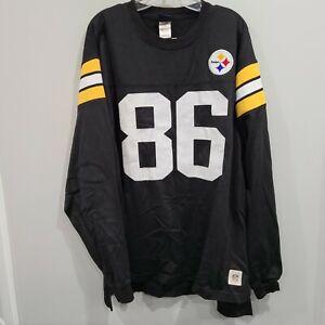 VTG Reebok Gridiron Pittsburgh Steelers Hines Ward 86 Throwback Jersey Mens XL