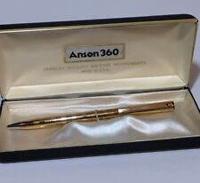 Vtg Anson 360 Jewelry Quality Writing Instruments Hardened Steel Pen & Box USA