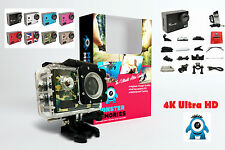 PROFESSIONAL 4K 1080p Ultra HD Action Camera - Waterproof + Accessories