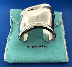 "Designer Elsa Peretti Tiffany & Co Sterling Silver 925 Bone 6.5"" Cuff Bracelet"