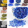 1Pound 8/0H Two Cut Silver Lined Round Hole Glass Seed Beads Craft 2.5~3x2~2.5mm