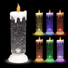 Led-Glitterkerze with Colour Changer 24cm Christmas Candle Advent Motif
