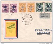 LETTONIA - 2 8 1928 FDC POSTA AEREA CROCE ROSSA -RED CROSS