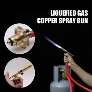 Liquefied Gas Ignition Plumbing Turbo Torch With Hose Solder Propane Welding Kit