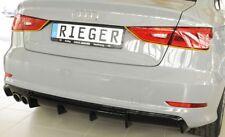 Rieger Heckdiffusoreinsatz Doppelendrohr links schwarz glanz Audi  A3 8V