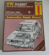 Haynes Automotive Repair Manual #884 VW Rabbit,Golf, Jetta, Scirocco, Pick-UP