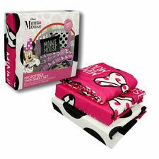 Disney Minnie Mouse 3 Piece Twin Sheet Set Pillowcase Microfiber Bedding Gift 3+