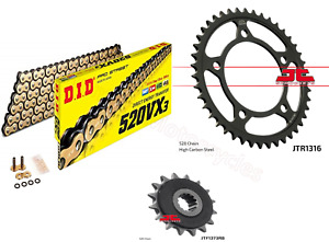 Honda NC700 X/S DID Gold X-Ring Chain and JT Quiet Sprocket Kit Set 2012 & 2013