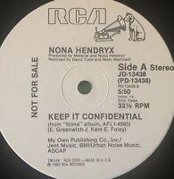 """NONA HENDRYX ~ KEEP IT CONFIDENTIAL ~ Dummy Up ~ LP 12"""" Vinyl (VG++)"""