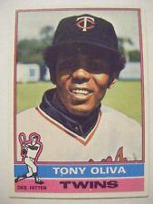 TONY OLIVA 1976 Topps baseball card #35 TWINS CUBA 1964 AL ROY 1965 WS 1969 ALCS