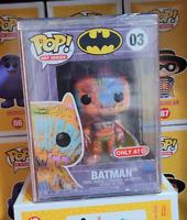 Funko POP! DC Heroes Art Series Batman Orange Graffiti (03) + Funko Hard Stack