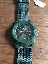 Mens Canvas Band Waterproof Army Style Sports Quartz Watch  W61