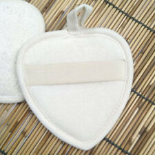 Heart Shape Natural Loofah Sponge Face Body Bath Exfoliator Scrubber Pad Mat CS