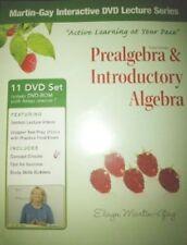 NEW PREALGEBRA & INTRODUCTORY ALGEBRA 11 DVD SET BY ELAYN MARTIN-GAY 2011 b
