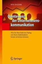 QUINTESSENZ DER UNTERNEHMENSKOMMUNIKATION - SALZER, EVA - NEW HARDCOVER BOOK
