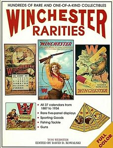 WINCHESTER RARITIES TOM WEBSTER REFERENCE GUIDE FOR POSTERS SIGNS ADVERTISING