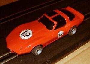 STROMBECKER BACHMANN SUPERTRAX RED CORVETTE  SLOT CAR 1/43 1/32