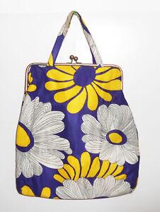 Tolle 70er Jahre Tasche Tragetasche Flower Power Ära Hippie bag Retro Kult !