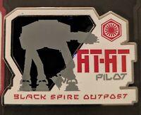 Disney Star Wars Galaxy's Edge AT-AT Pilot Black Spiral Outpost First Order Pin
