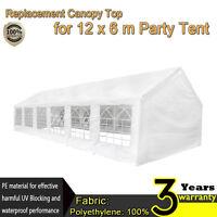 6 x 12m Marquee Waterproof Heavy Duty Garden Party Tent Gazebo Wedding Canopy