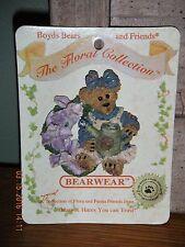 Boyds Bears 1999 ~Iris.Purple Passion~ Bearwear Pin Style# 26128