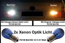 2x Rückfahrlicht P21W BA15S Birne Xenon Look Weiß Passt Für R-KLASSE W251 V251