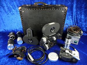 """16mm Filmkamera:""""Pentaflex AK 16"""" mit viel Zubehör,Transportkoffer und Netzteil."""