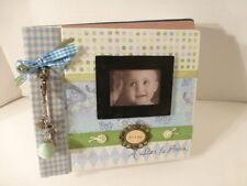 "Baby Boy Keepsake Box, 8"" x 7"" With Photo Album, Shabby Chic Design, New !"